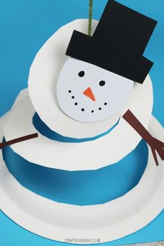 spinnning snowman paper plate craft winter craft or christmas craft for kids christmascrafts kidscrafts wintercrafts preschool preschoolers snowman 116038127887029479 Christmas Activities For Toddlers, Winter Crafts For Kids, Crafts For Kids To Make, Crafts For Teens, Winter Crafts For Preschoolers, Kids Crafts, Santa Crafts, Snowman Crafts, Snowman Party