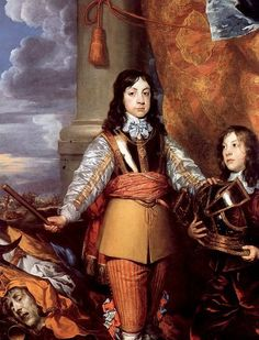 Charles II when Prince of Wales William Dobson (1611 – 1646, English) Poor lad - if this is supposed to represent his future heroics he had a lot to live up to.