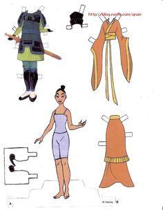 Dresses for Disney's Mulan paper dolls, Portuguese (1 of 9)   Naver Blog   종이인형 (뮬란) : 네이버 블로그