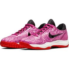 the latest f4eb4 abde1 Nike Air Zoom Cage 3 Women s Tennis Shoes Pink Racquet Racket NWT  918199-600