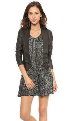 Black Long Sleeve Crop Pu Leather Jacket