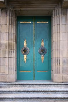 Art Deco doors at the docks of Riversway in Preston, Lancashire, England ~