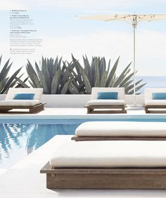 Divine colours Take me there Outdoor Seating, Outdoor Spaces, Outdoor Living, Outdoor Decor, Modern Pools, Modern Outdoor Furniture, Swimming Pools Backyard, Dream Pools, Villa Design