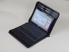 Standing Microsoft Surface Black Full Grain Leather by leathercase, $135.00