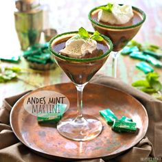 Andes Mint Martini | The Cookie Rookie !
