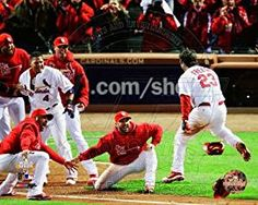 avid Freese St. Louis Cardinals 2011 World Series Walk Off Home Run Celebration #4, Price: $9.99