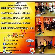 Tu ce program ai azi? Sala Fitness, Aerobics, Gym Workouts, Cardio, Burns, Club, Life, Instagram, Workout Exercises