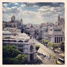 Vistas desde el Mirador Madrid, en el Palacio de Cibeles