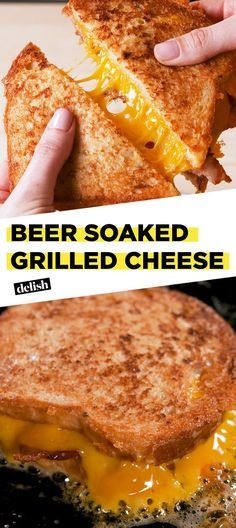 To Make Beer Soaked Grilled Cheese The secret to the best grilled cheese of your life? Get the recipe at .The secret to the best grilled cheese of your life? Get the recipe at . Best Grilled Cheese, Grilled Cheese Recipes, Grilled Cheeses, Beer Recipes, Cooking Recipes, Copycat Recipes, Cheese Sandwich Recipes, Bacon Sandwich, Gourmet