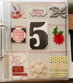 Scarlet Bird Designs: December Daily -- Clear Pocket Pages 1-3