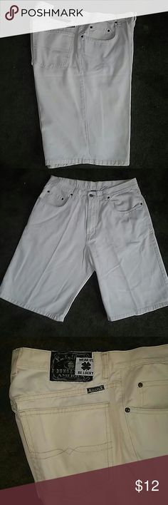 Lucky Shorts Lucky Shorts Size 34 Like New Color is like Cream or Tan No Holes Or Stans Lucky Brand Shorts Jean Shorts