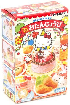 cute highly detailed birthday miniature set from Re-Ment in Japan