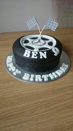 Mercedes tyre cake