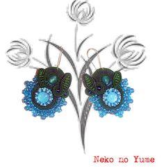 Soutache earrings  Corina by IzabelaCichocka on Etsy