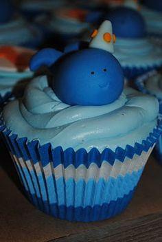 @KatieSheaDesign ♡❤ ❥ # cupcakes Blue Thememed Cupcakes