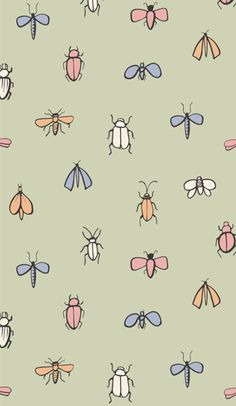 Bug Watch Combine simple pen sketches with crayon mark making to lend a childlike naivety to cute graphics and prints. Overlay black outlines on coloured scribbles and use hand-drawn fonts for playful slogans. Scatter bugs on pretty pastel grounds for a girly twist on conversational insect prints.
