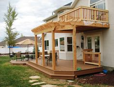 Two Level Deck with Pergola | Mountain West Decking