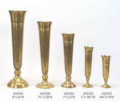 Wholesale Gold Trumpet Vases, Silver Candelabras, Brass Candelabra, Pedestals and Flower Towers. Wedding Vases, Our Wedding, Wedding Flowers, Wedding Reception, Dream Wedding, Candlestick Holders, Candlesticks, Tall Gold Vases, Silver Candelabra