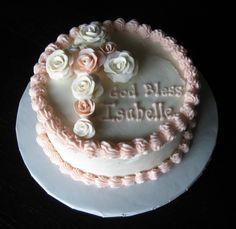 Custom Cakes by Julie: Baptism Cake Cupcakes, Cake Cookies, Cupcake Cakes, Pastel Baby Niño, Baby Dedication Cake, Cross Cakes, Religious Cakes, Confirmation Cakes, First Communion Cakes