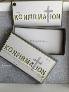 inges-seelenmagie: Konfirmation Stampin Up, beeindruckende Buchstaben, Gesegnet Communion, Confirmation Cards, Paper Cards, Stamping Up, Christening, Invitation Cards, Christmas Cards, Greeting Cards, Crafts
