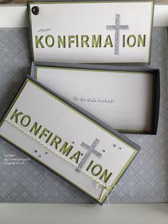 inges-seelenmagie: Konfirmation Stampin Up, beeindruckende Buchstaben, Gesegnet
