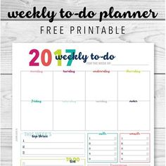 Free Daily And Weekly Planner Printables  Calendar Printable