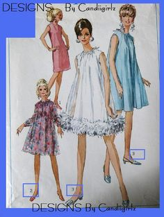 1967 MOD A-Line Dress with overlay!  LOVE the feathery one!!