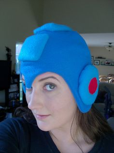 Megaman Fleece hat.  Perfect when going out for a jog in a matching blue 3-stripe Adidas track suit. $28