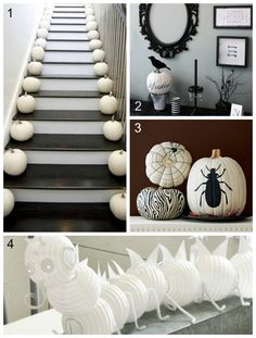 Decor trends for halloween_gray2 I don't particularly care for Halloween but this decor is sophisticated and handsome