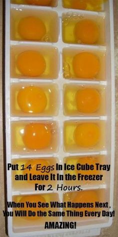 She Put Exactly 14 Eggs In Ice Cube Tray And Left It In The Freezer For 2 Hours. When She Saw What Happened Next She Decided To Do The Same Thing Every Day! Amazing!