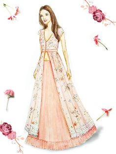 Online Shopping In India Dress Design Drawing, Dress Design Sketches, Dress Drawing, Fashion Design Drawings, Fashion Sketches, Fashion Drawing Dresses, Fashion Illustration Dresses, Wedding Dress Illustrations, Simple Kurti Designs