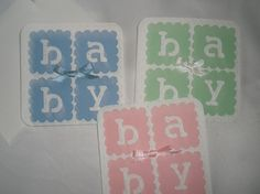 Set of 3 Baby Gift Enclosure Cards $3.95