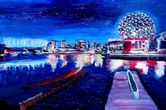 Vancouver skyline at night von artshop77