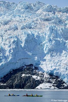 Stock Photos of the Kayaking in front of Aialik Glacier, Kenai Fjords National Park, Alaska Alaska Cruise, Alaska Travel, Places To Travel, Places To See, Beautiful World, Beautiful Places, North To Alaska, Alaska Usa, Kenai Fjords