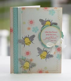 Way to use the bee stamps from Papertreyink