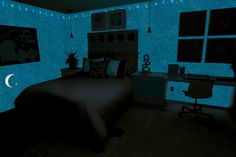 bedroom decorated with Magic Light and Valrenna