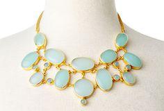 Amalia Necklace, Aqua Chalcedony on OneKingsLane.com