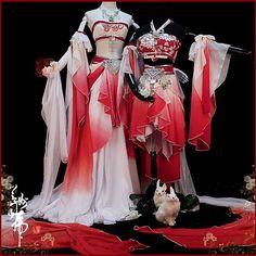 漢服Hanfu red and white kimono dress Cosplay Outfits, Anime Outfits, Cute Outfits, Mode Lolita, Fantasy Dress, Kimono Dress, Lolita Dress, Lolita Fashion, Traditional Dresses