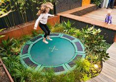 Garden Design With Trampoline 12ft in-ground atlantic trampoline | garden trampoline + up