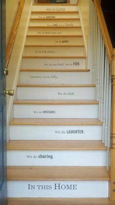 "Stairs Stairs Stairs ""In this home...We do love"""