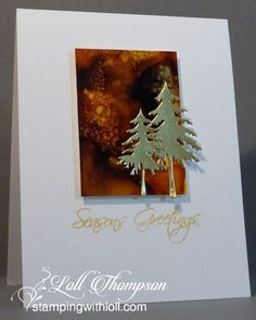Hi everyone.  Today I'm posting some cards I made in December.  It was a tough month with radiation treatments, along with having the flu ... and then a nasty cold. I tried to keep up with visiting bl