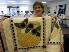 Marie has been quilting baskets. Awesome Quilting.