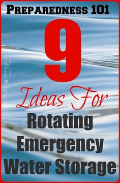 Don't JUST store water. Make certain it is safe to use when you need it. Rotating stored emergency water is one way to do this and I've got nine ideas that should make it simple! by lucinda Emergency Preparedness Food, Hurricane Preparedness, Emergency Water, Emergency Preparation, In Case Of Emergency, Survival Food, Survival Prepping, Survival Skills, Emergency Supplies