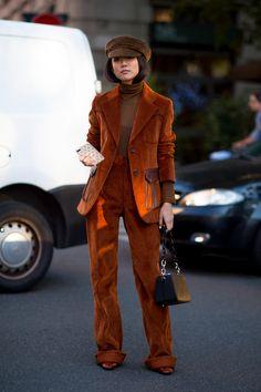 On the street at Milan Fashion Week. Photo: Moeez Ali