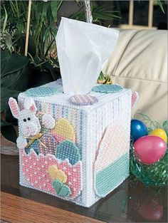 Everything Plastic Canvas - Tissue Box Cover