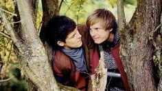 Bradley James and Colin Morgan. Merlin merlin merlin!