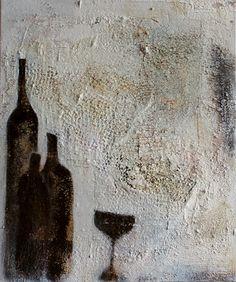 """Acrylmalerei - Abstrakt Bild """"Was von gestern übrig blieb... - ein Designerstück von Cornelia-Hauch bei DaWanda"""