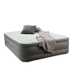 Air Mattress With Pump This Intex Classic Downy Queen Size Blow Up Airbed With Built In Electric Pump For Two Adults Indoor Or Outdoor Use Raised Inflatable Bed Is Best As Camping Or Guest Bed -- Want to know more, click on the image.