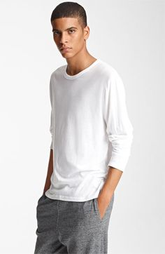T by Alexander Wang Long Sleeve T-Shirt White Small