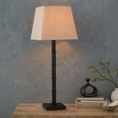 Candlestick Table Lamp - Square (Black) | west elm